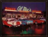 Al Mac's Diner Plaque en métal par Lucinda Lewis