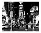 Times Square Evening - Manhattan, New York City - B&W Photograph Photographic Print by DW labs