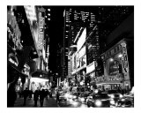 42nd Street Evening - Manhattan, New York City - B&W Photograph Photographic Print by DW labs