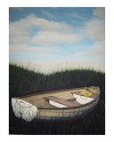 Salt Marsh Dinghy Giclee Print by RICKARD CRONLAND