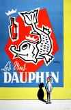Les Vins Dauphin Reproduction pour collectionneur par  Tilyjac