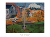 Country Scene in Brittany Posters by Paul Gauguin