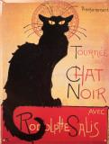 Tournée du Chat Noir Plaque en métal