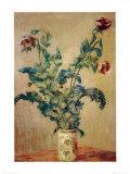 Violette Mohnblüten Kunst von Claude Monet