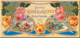 Savon Roses De Kioto Tin Sign