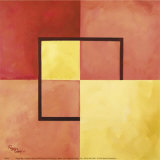 Four Squares with Lines Prints by Peggy Garr