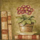 Potted Flowers with Books V Posters by Eric Barjot