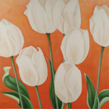 White Tulips Prints by Erik De André
