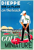 Dieppe Mini Golf Collectable Print by Oliver Gambier