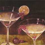 Martini with Grapes II Art by Eric Barjot