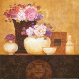 Still Life, Flowers on Antique Chest II Prints by Eric Barjot