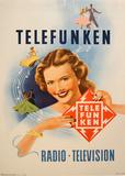 Telefunken Visage Et Danseurs Collectable Print