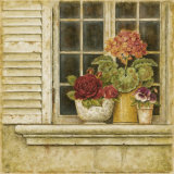 Floral Arrangement in Windowsill I Poster by Herve Libaud