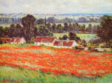 Field of Poppies Art by Claude Monet