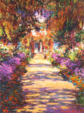 Une all&#233;e du jardin de Monet, Giverny Posters par Claude Monet