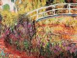 Japanska bron Posters av Claude Monet