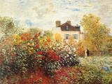 Konstnärens trädgård i Argenteuil Posters av Claude Monet