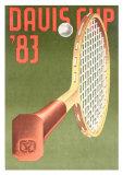 Davis Cup 1983 Posters by Konrad Klapheck