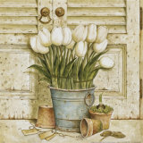 Potted Tulips II Art by Eric Barjot