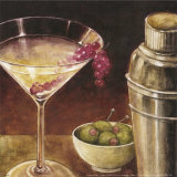Martini with Grapes I Poster by Eric Barjot