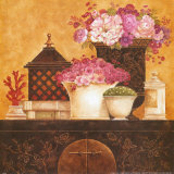 Still Life, Flowers on Antique Chest I Posters by Eric Barjot