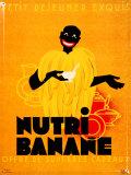 Nutri Banane Plaque en métal