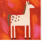 Quirky Animals I Stretched Canvas Print by Sophie Harding