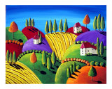 Tuscan Landscape Giclee Print by Renie Britenbucher