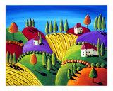 Tuscan Landscape Giclee Print by Renie Britenbucher
