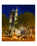 Indianapolis Circle at Night Photographic Print by Anna Maria Miller