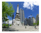 Indianapolis Circle Monument Photographic Print by Anna Maria Miller