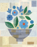 Blue Flower Vase Affiches par Gale Kaseguma