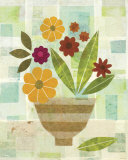 Yellow Flower Vase Print by Gale Kaseguma