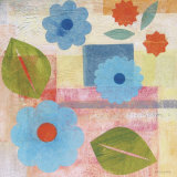 Blue Pattern Flower Prints by Gale Kaseguma