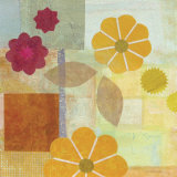 Yellow Pattern Flower Poster by Gale Kaseguma