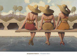 Poolside Chat Posters by Jacqueline Osborn
