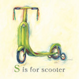 S is for Scooter Art by Catherine Richards