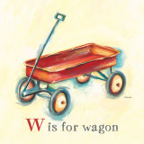 W is for Wagon Posters par Catherine Richards