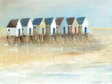 Beach Cabins I Prints by Jean Jauneau