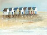 Beach Cabins I Prints by Jean Jauneau