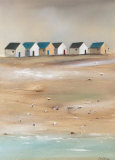 Beach Cabins III Prints by Jean Jauneau