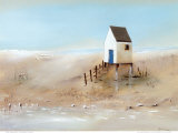 Beach Cabins II Print by Jean Jauneau