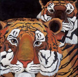 Sun Tigers Prints by LISA BENOUDIZ