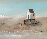 Beach Cabins II Prints by Jean Jauneau