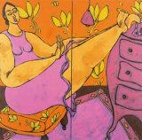 Les Pieds Sur la Commode Prints by Patricia Simsa