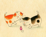 Playful Kittens I Prints by Kate Mawdsley