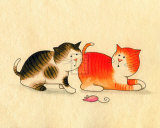 Playful Kittens II Prints by Kate Mawdsley