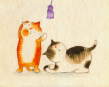 Playful Kittens III Prints by Kate Mawdsley