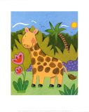 Baby Giraffe Print by Sophie Harding