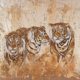 Les Tigres I Print by Carole Ivoy